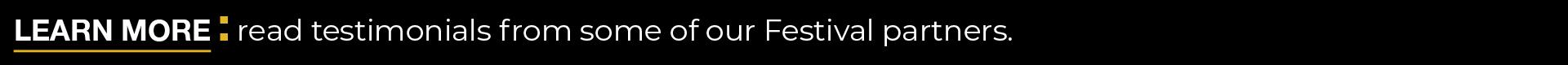 Festival Testimonials