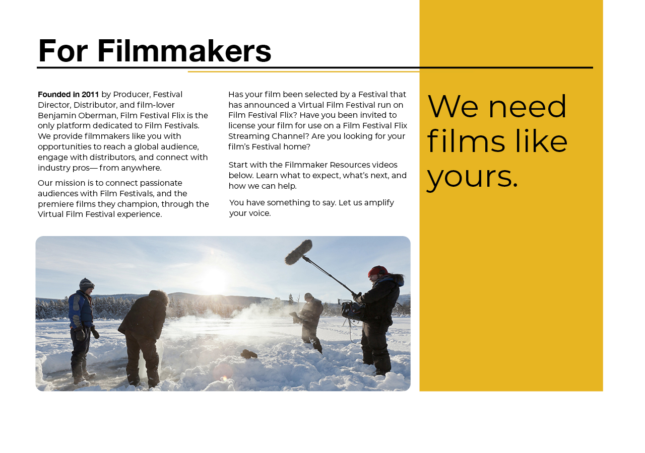 About Film Festival Flix for Filmmakers and Distributors